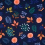 Wild Wonders Canvas Navy - Cozy Cabin Kollektion Hamburger Liebe